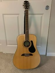 Alvarez Acoustic Guitar Model Number Ad-60s Nat With Case Strings And Picks