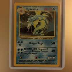 Rare 1st Edition Holographic Gyarados Pokémon Card 6102 Great Condition.