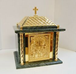 + Brand New Marble Gold Plated Holy Family Tabernacle 16