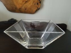 Kenworth The Worldandrsquos Best 1988 And Co Etched Square Crystal Bowl