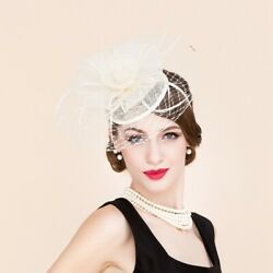 Kentucky Derby Church Noble Fashion Linen Sinamay Evening Women Party Floral Hat