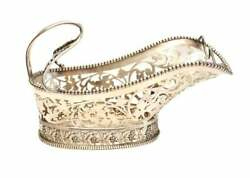 Buccellati Italian Sterling Silver Large Wine Bottle Holder Caddy Grapes And Vines