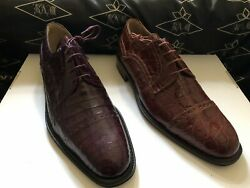 Genuine Croc Belly Men's Shoes We Also Make Custom Suits, Shirts And Ties