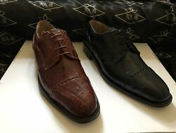 Genuine Crocodile Flank Men's Shoes We Also Make Custom Suits, Shirts And Ties