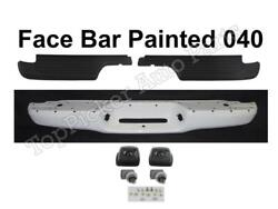 Painted 040 Rear Bumper Face Bar Top Pad License Light For Tacoma 1995-2004