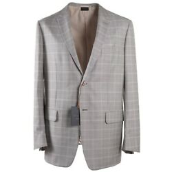 Nwt 4995  Couture Gray Check Wool-silk Suit Slim 46 R