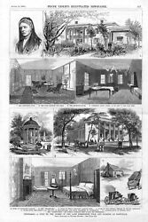 Homes Of The Late Presidents Polk And Jackson At Nashville Tennessee - 1880