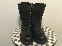 Black Leather Danner 69110 Fort Lewis 200g Usa Lace Up Military Drill Boots 9 D