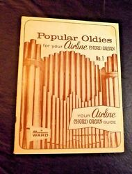 POPULAR OLDIES FOR YOUR AIRLINE CHORD ORGAN #1 MONTGOMERY WARD PIETRO DEIRO JR.