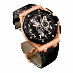Audemars Piguet Royal Oak Offshore Tourbillon Chronograph Rose Gold Men's Watch