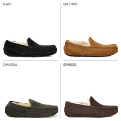 Ugg Australia Mens Ascot Slippers Suede Leather Loafer Outdoor Slipper