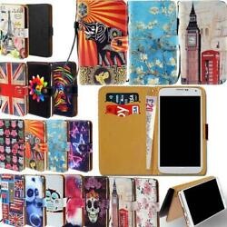 Leather Smart Stand Wallet Cover Case For Various Mlais SmartPhones