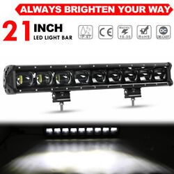 21inch Slim 9d Led Light Bar Spot Bar Front Bumber Roof Lamp Offorad For Jeep