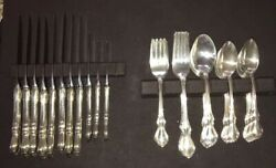 Reed And Barton Hampton Court Sterling Silver 8 Full Place Settings And Bonus Items