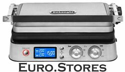 DeLonghi CGH 1020D contact grill 2000W 2 grill plate sets stainless steel