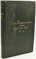 Executive Board Meeting Minutes H M Southwell Ltd 1933-1936 288357