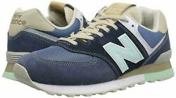 New Balance Mens Classic Ml574bsl Low Top Lace Up Navy/vintage Indigo Size 11.5