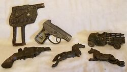 Assortment Of Old Cast Iron Parts Pieces Of Still Banks/toys For Parts/repairs