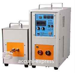 15kw 30-80khz Dual Station High Frequency Induction Heater Furnace Lh-15ab Ax
