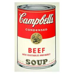Andy Warhol Soup Can Beef W/vegetables Sunday B Morning Fine Art Silk Screen