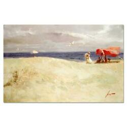 Pino White Sand Pp Artist Embellished Limited Edition On Canvas Coa