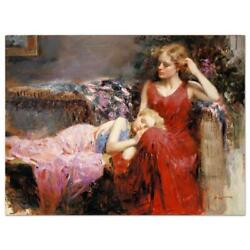 Pino A Mother's Love Ap Artist Embellished Limited Edition On Canvas Coa