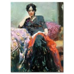Pino Her Favorite Book Pp Artist Embellished Limited Edition On Canvas Coa