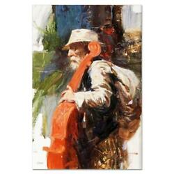Pino The Red Viola Ap Artist Embellished Limited Edition On Canvas Coa