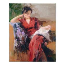 Pino Resting Time Ap Artist Embellished Limited Edition On Canvas Coa