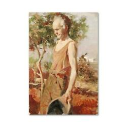 Pino Afternoon Chores Ap Artist Embellished Limited Edition On Canvas Coa