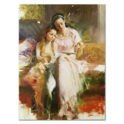 Pino Bedtime Stories Ap Artist Embellished Limited Edition On Canvas Coa