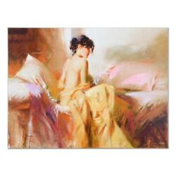 Pino Royal Beauty Ap Artist Embellished Limited Edition On Canvas Coa
