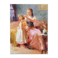 Pino Little Lady Ap Artist Embellished Limited Edition On Canvas Coa