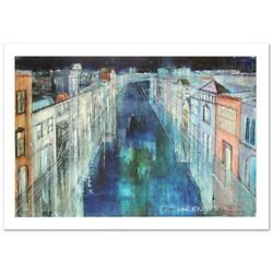 Alex Zwarenstein Long Canal Venice Signed Limited Edition Giclee On Canvas