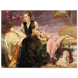 Pino Precious Moments Cp Artist Embellished Limited Edition On Canvas Coa