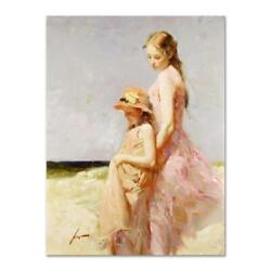 Pino Summer's Day Ap Artist Embellished Limited Edition On Canvas Coa