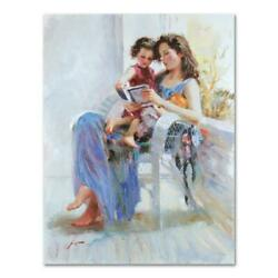 Pino Book Of Poems Pp Artist Embellished Limited Edition On Canvas Coa