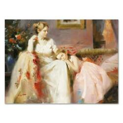 Pino Touch Of Warmth Ap Artist Embellished Limited Edition On Canvas Coa