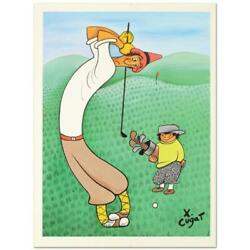 Xavier Cugat Skinny Golfer Numbered Limited Edition Lithograph