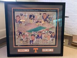Tennessee Volunteers Miracle At South Bend Authentic Poster/print And Program