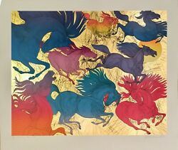 """Rare Sold Out 3/10 Guillaume Azoulay """"huit Chevaux"""" State Ii Serigraph H/s Coa"""