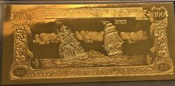 Antigua And Barbuda Gold And Silver Banknote 100 Dollars Cassandra And Fancy 1