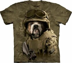 THE MOUNTAIN COMBAT SAM NAVY MILITARY ARMY AMERICA DOG ANIMAL TEE SHIRT XL 2XL $17.60
