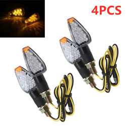 Motorcycle LED Turn Signal Lamp Sequential Flowing Indicator Light Amber