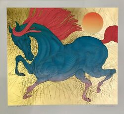 """Rare Sold Out Guillaume Azoulay """"robuste"""" State Ii Gold Leaf Serigraph H/s Coa"""