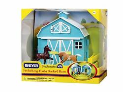 Breyer 5932 Stablemates Frolicking Foals Pocket Barn Collectable Horse Toy Model