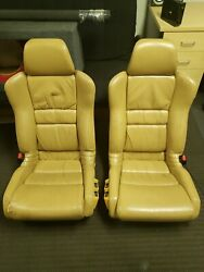 Oem Honda Acura Nsx Tan Leather Bucket Seats2 Great Condition Genuine And Rare