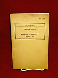 Feb 2 1942 Wwii Us War Department Technical Manual Aircraft Instruments Tm 1-413