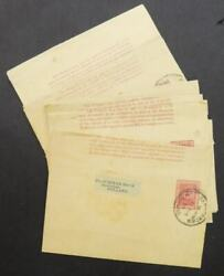 Edw1949sell British Guiana Scarce Group Of 7 1901-04 Wrappers Used To Holland.