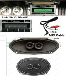 1963-64 Cadillac Hardtop Radio Aux Usb Front And Rear Speakers Stereo 630 Ii